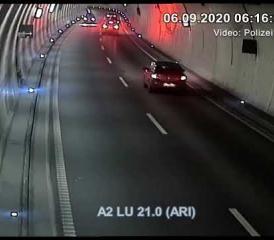 Geisterfahrer auf der Autobahn A2 unterwegs
